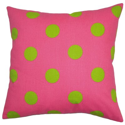 Rane Cotton Throw Pillow Color: Candy Pink / Chartre, Size: 18 x 18