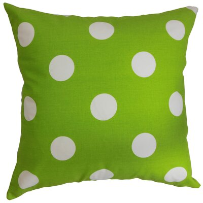 Rane Polka Dots Throw Pillow Cover Color: Chartreuse White