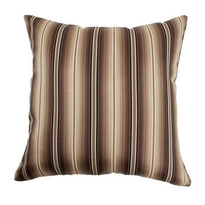 Bailey Stripes Throw Pillow Color: Storm, Size: 18 x 18