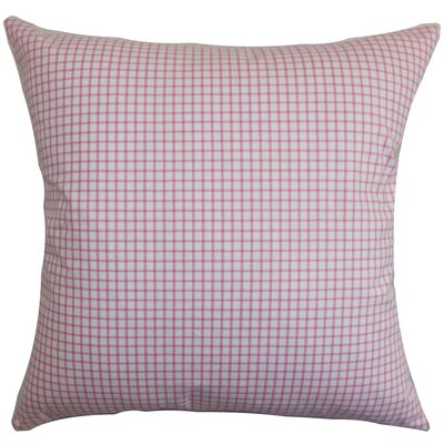 Xandy Plaid Cotton Throw Pillow Cover Size: 20 x 20, Color: Pink