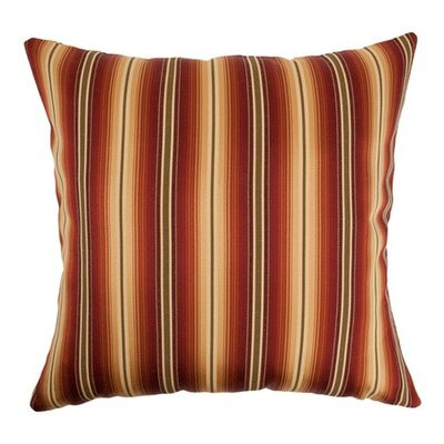 Bailey Stripes Throw Pillow Color: Sunset, Size: 18 x 18