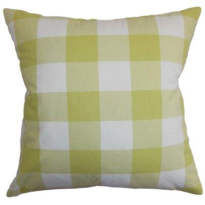 Vedette Plaid Cotton Throw Pillow Cover Size: 20 x 20, Color: Buttercup