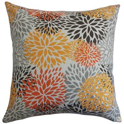 California Floral Cotton Throw Pillow Cover