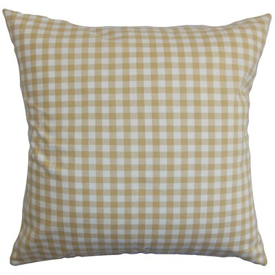 Wren Cotton Throw Pillow Color: Butter Milk, Size: 20