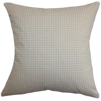 Xandy Plaid Cotton Throw Pillow Cover Size: 18 x 18, Color: Almond