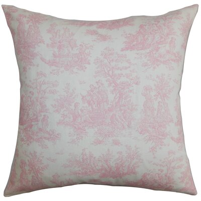 Lalibela Toile Bedding Sham Size: Queen, Color: Baby Pink