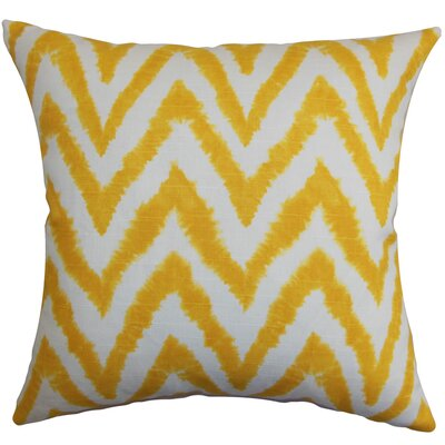 Kingspear Zigzag Bedding Sham Size: Queen, Color: Corn Yellow