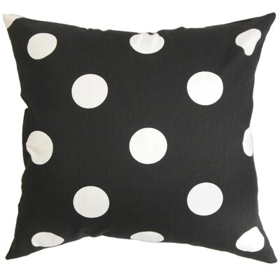 Rane Cotton Throw Pillow Color: Black / White, Size: 22 x 22