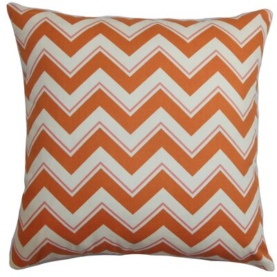 Deion Cotton Throw Pillow Color: Grapefruit, Size: 22 x 22