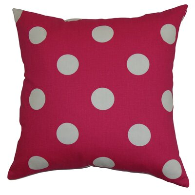 Rane Cotton Throw Pillow Color: Candy Pink / White, Size: 18 x 18
