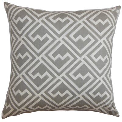 Rhodes Geometric Cotton Throw Pillow Color: Storm, Size: 18 x 18