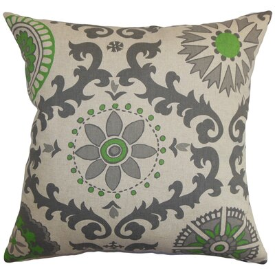 Kaula Cotton Throw Pillow Color: Organic Green, Size: 24 x 24