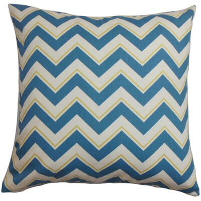 Deion Cotton Throw Pillow Color: Seaport, Size: 18 x 18