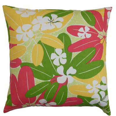 Hea Throw Pillow Color: Green, Size: 18 x 18