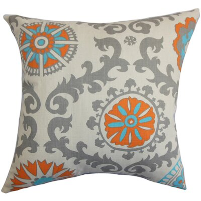 Brindalla Geometric Cotton Throw Pillow Cover Color: Mandarin