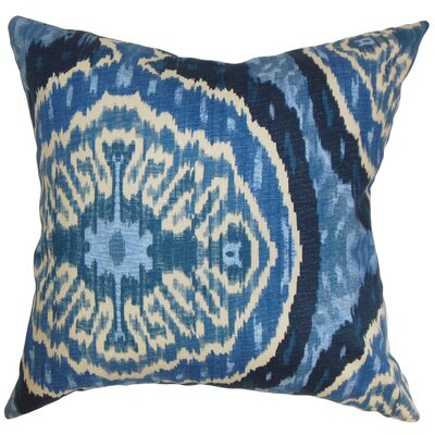 Iovenali Ikat Throw Pillow Cover Color: Blue