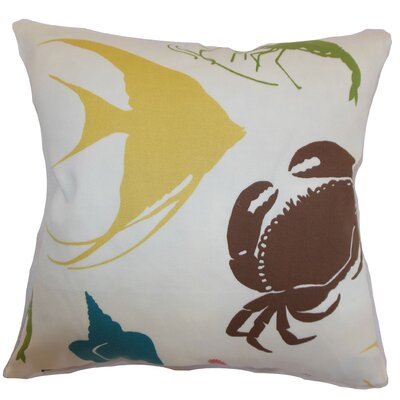 Decorah Aquatic Cotton Throw Pillow Color: Summer, Size: 20 x 20