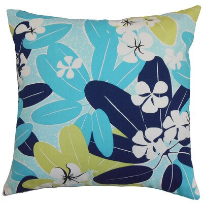 Hea Throw Pillow Color: Blueberry, Size: 18 x 18