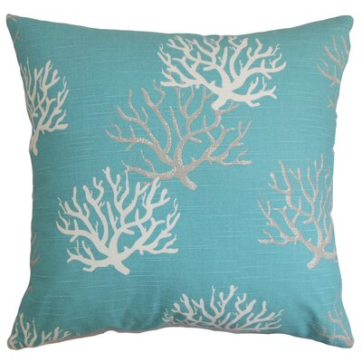 Hafwen Coastal Throw Pillow Cover Color: Blue