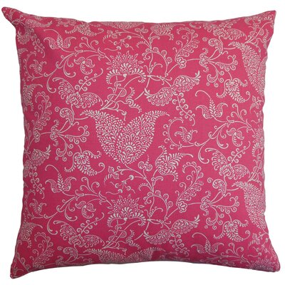 Aderyn Cotton Throw Pillow Color: Candy, Size: 18x18