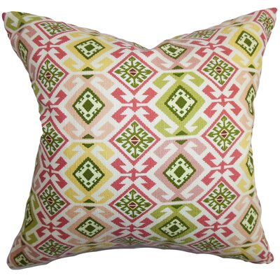 Ealhhun Moorish Cotton Throw Pillow Color: Bubblegum, Size: 22 x 22