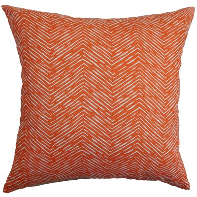 Edythe Zigzag Bedding Sham Color: Orange, Size: Standard