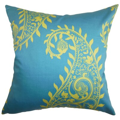 Neysa Throw Pillow Color: Aegean, Size: 18 x 18