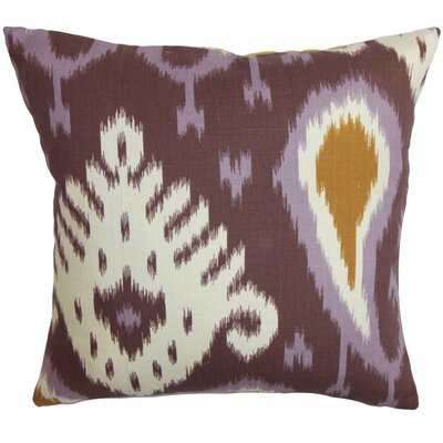 Bentshaya Ikat Throw Pillow Cover Color: Purple