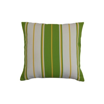 Saloni Stripes Outdoor Throw Pillow Cover Size: 18 x 18