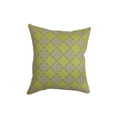 Erasma Cotton Throw Pillow Color: Green, Size: 18 x 18