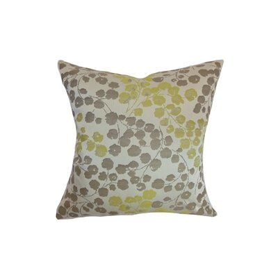 Reynosa Floral Throw Pillow Cover Color: Willow