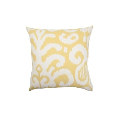 Teora Ikat Throw Pillow Cover Color: Citrus