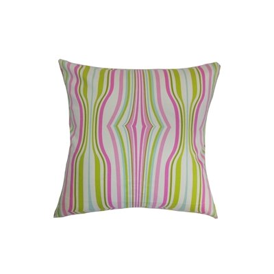 Cachoiera Stripes Cotton Throw Pillow Color: Bubblegum, Size: 18 x 18