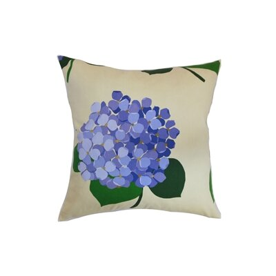 Cammi Floral Cotton Throw Pillow Color: Lavender, Size: 24 x 24