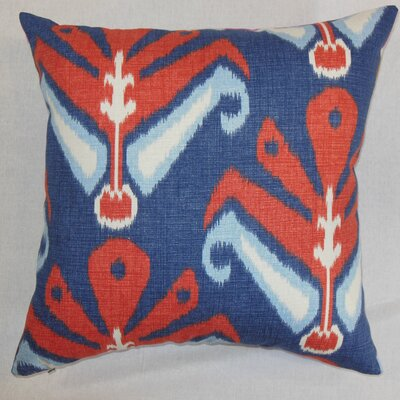 Sakon Cotton Throw Pillow Color: American Beauty, Size: 18 x 18
