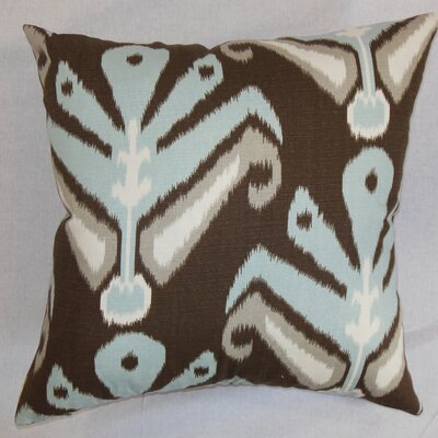 Sakon Cotton Throw Pillow Color: Aqua / Cocoa, Size: 18 x 18