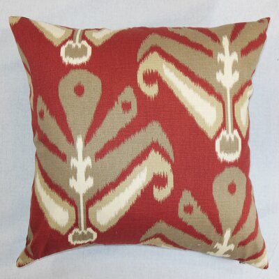 Sakon Cotton Throw Pillow Color: Madder, Size: 18 x 18
