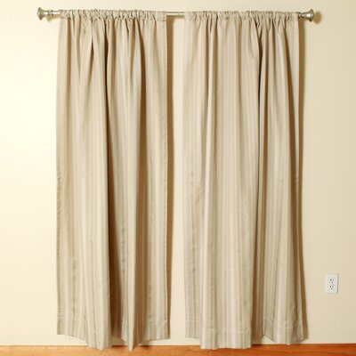 """The Pillow Collection Oyster Rod Pocket Curtain Panels (Set of 2) - Size: 96"""" L x 50"""" W"""