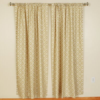 """The Pillow Collection Squares/Rectangles Pattern Rod Pocket Curtain Panels (Set of 2) - Color: Sand, Size: 96"""" H x 50"""" W at Sears.com"""