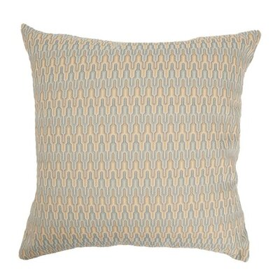 Caelic Zigzag Throw Pillow Color: Blue / Yellow, Size: 18x18