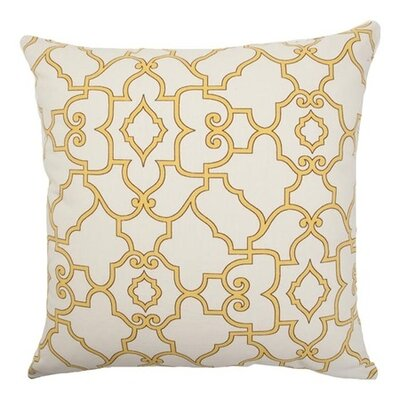 Macca Moorish Tile Cotton Throw Pillow Size: 18x18
