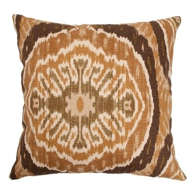 Iovenali Ikat Throw Pillow Color: Tortoise, Size: 24 x 24