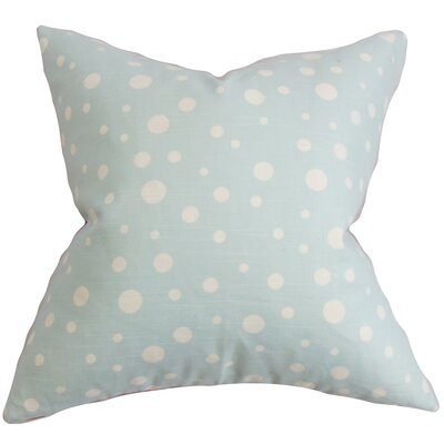 Bebe Polka Dots Cotton Throw Pillow Color: Cloud, Size: 20 x 20