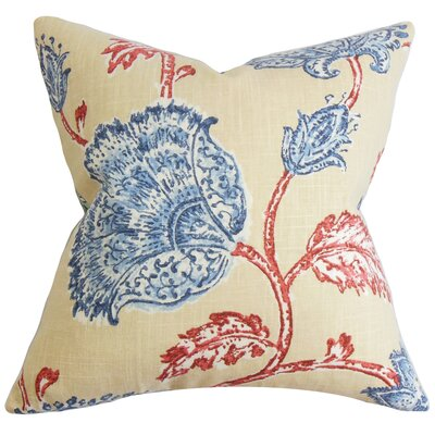 Parthenia Floral Throw Pillow Cover Size: 18 x 18