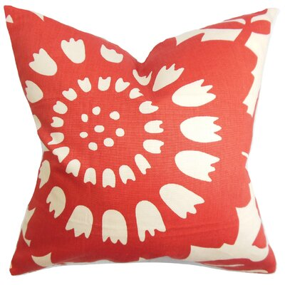 Pittman Floral Square Cotton Throw Pillow Size: 18x18