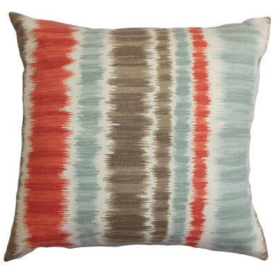 Odile Cotton Throw Pillow Color: Red / Blue, Size: 18 x 18