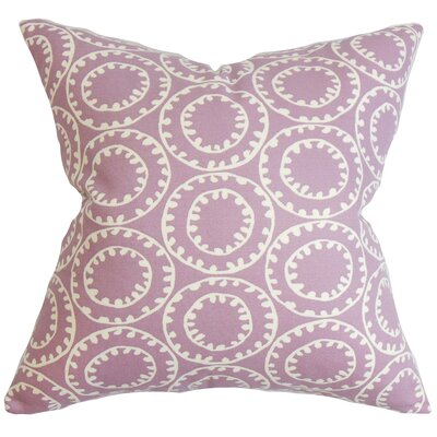 Yowanda Geometric Cotton Throw Pillow Color: Wisteria, Size: 18 x 18