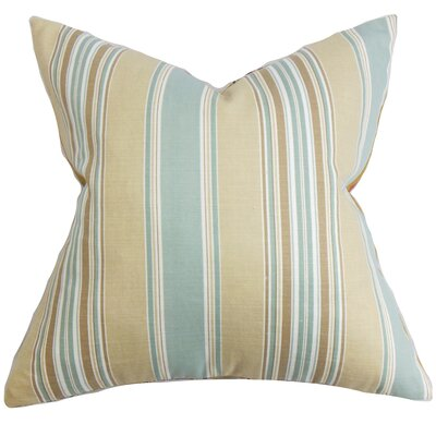 Ashprington Stripes Throw Pillow Cover Size: 18 x 18, Color: Surf