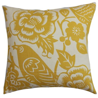 Campeche Floral Cotton Throw Pillow Cover Size: 18 x 18, Color: Maize
