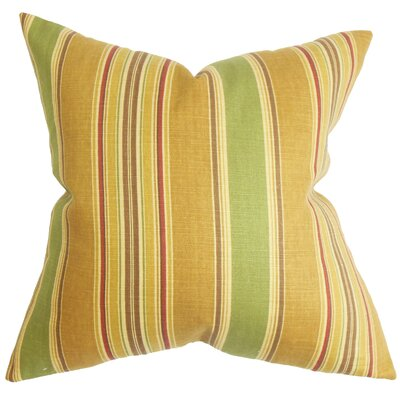 Hollis Stripes Throw Pillow Cover Size: 18 x 18, Color: Sunset